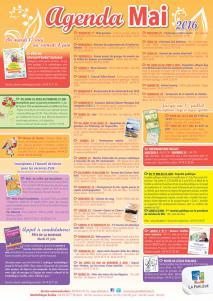 Visuel agenda du mois de Mai 2016
