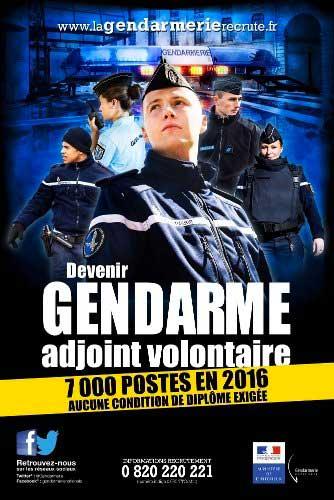 visuel 7000-postes de gendarme à pouvoir  en 2016